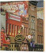 Honky Tonk Row - Nashville Tn Wood Print