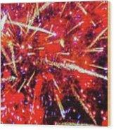 Honolulu Fireworks Wood Print