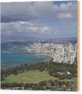 Honolulu Oahu Hawaii Wood Print
