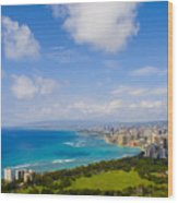 Honolulu Wood Print