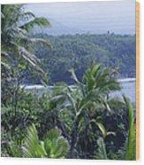 Honomaele Near Mokulehua At Hale O Piilani Heiau Hana Maui Hawaii Wood Print