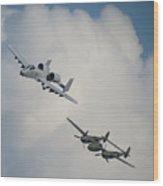 Honor Flight Wood Print