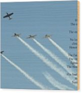 Honor Flight- Missing Man Formation Wood Print