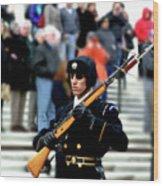 Honor Guard At Arlington Cemetery Wood Print