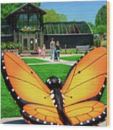 Honor Heights Butterfly House Wood Print