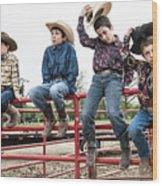Honoring A Fallen Cowboy Wood Print