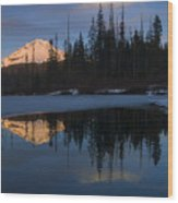 Hood Alpenglow Wood Print