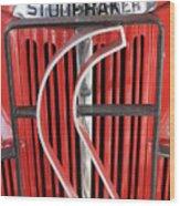 Hood And Grill Badge Wood Print