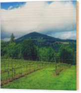 Hood River Oregon - Cloud Burst Over The Vineyard Wood Print