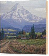 Hood River Valley Wood Print