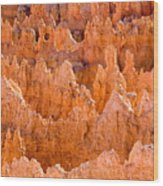 Hoodoos And Other Eroded Cliffs Light Wood Print