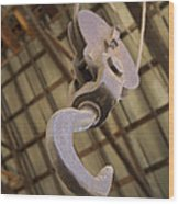 Hook And Pulley Wood Print