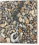 Hook, Chain And Pebbles Wood Print