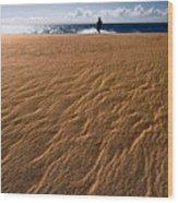 Ho'okahi - A Stroll Along A Beach Wood Print