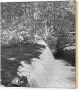 Hooker Falls North Carolina Wood Print
