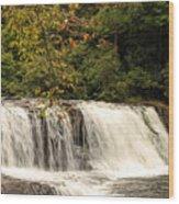 Hooker Falls Wood Print