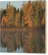 Hooker Lake Reflections Wood Print