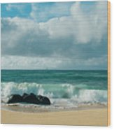 Hookipa Beach Pacific Ocean Waves Maui Hawaii Wood Print