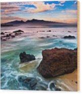 Hookipa Sunrise  Wood Print