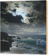 Hookipa Waiola  O Ka Lewa I Luna Ua Paaia He Lani Maui Hawaii  Wood Print