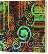 Hoopla Wood Print