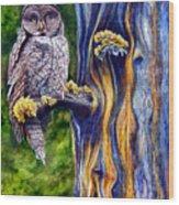 Hoo's Look'n Wood Print