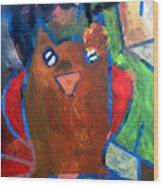 Hoots The Fall Owl Wood Print