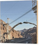 Hoover Dam Bypass Highway Under Construction Wood Print
