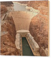 Hoover Dam Scenic View Wood Print