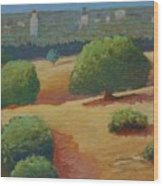 Hoover Tower In Sight Wood Print