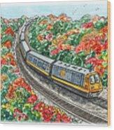Hop On A Train Wood Print