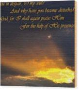 Hope In God Wood Print