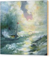 Hope In The Storm I Wood Print