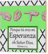 Hope Spanish - Bw Graphic Wood Print
