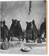 Hopi Grinding Grain, C1906 Wood Print