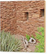 Hopi House Garden Wood Print