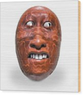 Hopi Mask Three Wood Print
