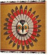 Hopi Owl Mask Wood Print
