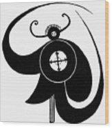 Hopi Sky God Wood Print by Granger