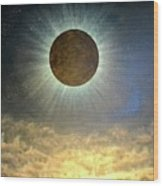 Hordes Of The Lunar Eclipse Wood Print
