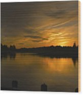 Horicon Lake, Lakehurst, Nj Wood Print
