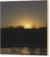 Horizon Glow Wood Print