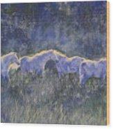 Horizonline Wood Print