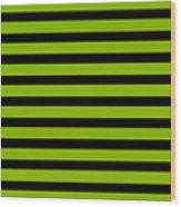Horizontal Black Inside Stripes 09-p0169 Wood Print