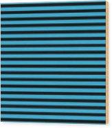 Horizontal Black Inside Stripes 18-p0169 Wood Print