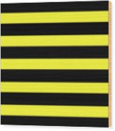 Horizontal Black Outside Stripes 05-p0169 Wood Print
