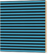 Horizontal Black Outside Stripes 18-p0169 Wood Print