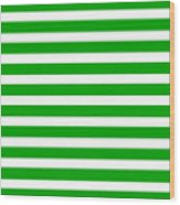 Horizontal White Inside Stripes 09-p0169 Wood Print