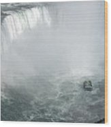 Hornblower Ferry At Horseshoe Falls Wood Print