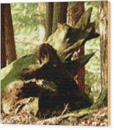 Horned Tree Wood Print
